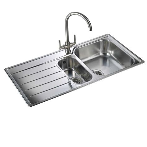 kitchen stainless steel sinks rangemaster oakland ol9852 stainless steel sink kitchen sinks taps
