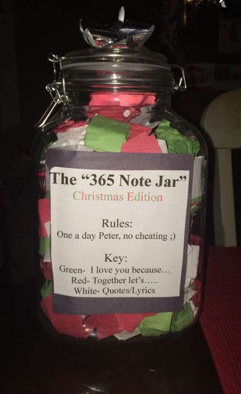 Gift To Husband 365 Days Of by The Quot 365 Note Jar Quot Gifts Anniversary Forhim