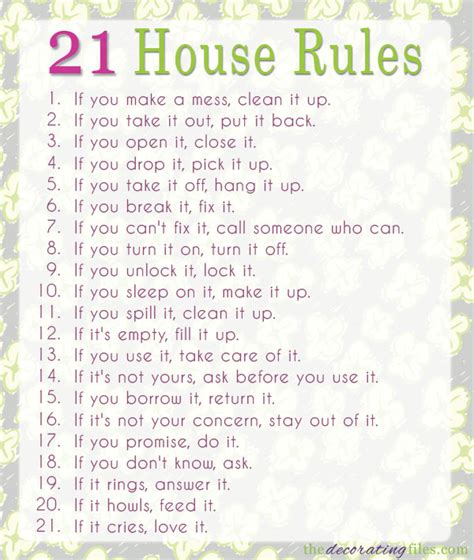 rules of home design family house rules 21 house rules for a happy home