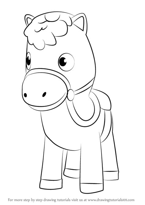 Step By Step How To Draw Sparky From Sheriff Callie S Wild Sparky The Coloring Pages