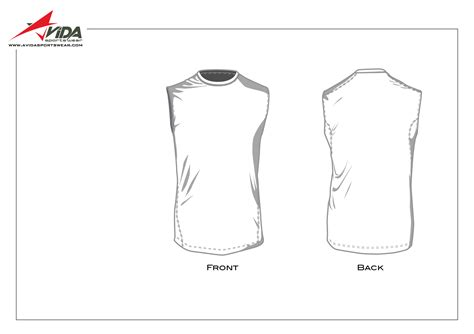 sleeveless shirt template avida sportswear