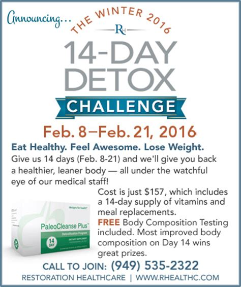 Detox Challenge by Announcing The Winter 2016 14 Day Detox Challenge