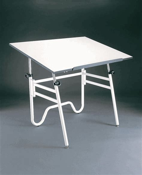 Alvin Portable Drafting Table Alvin Opal 36x48 Folding Drafting Table Portable Compact White Base