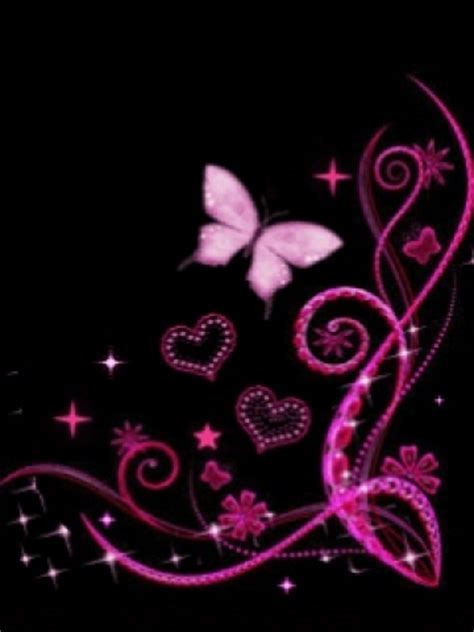 wallpaper hitam pink pink and black butterfly wallpaper iphone blackberry