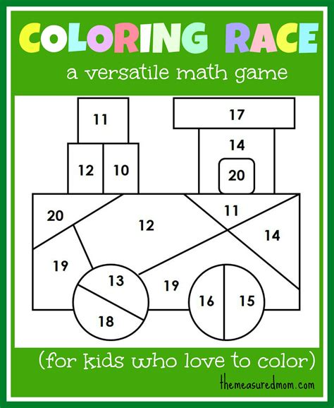 color math math for coloring race combines math and