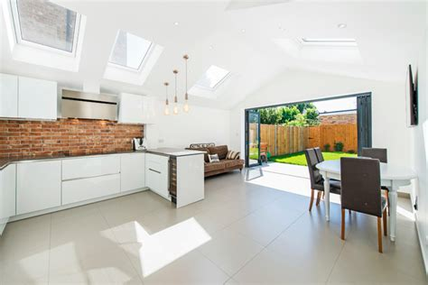 modern kitchen design in loft extension london by belsize loft extension on grosvenor avenue