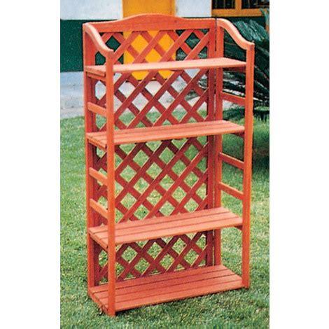 scaffali per piante scaffali in legno con grigliato pannello griglia balcone