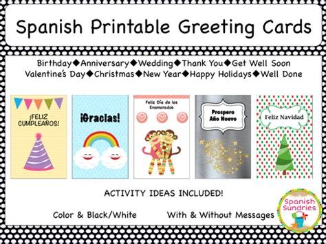 printable greeting cards in spanish spanish greeting cards by sombra1230 teaching resources