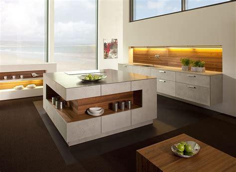 u förmige küche designs mit insel chicago graubeton