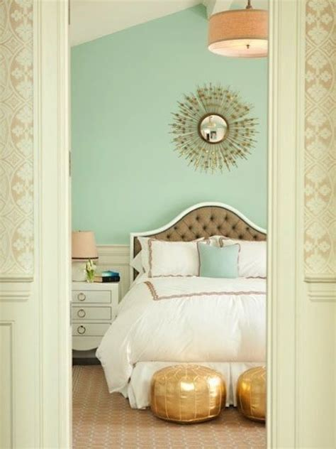 Bedroom Color Schemes With Gold Beautiful Mint Pink And Gold Bedroom With Tufted