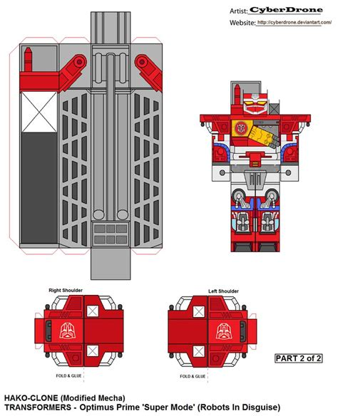Transformers Papercraft Optimus Prime - hako clone optimus prime rid 2of2 by cyberdrone on