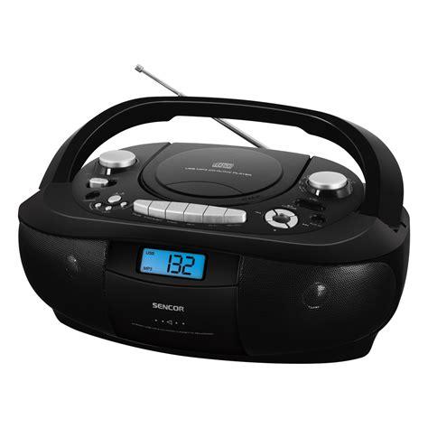 Cd Player Usb Mobil portable radio cd mp3 usb player with cassette recorder spt 251 sencor let s live