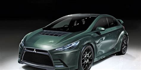 mitsubishi evo diesel hybrid future cars  mitsubishi