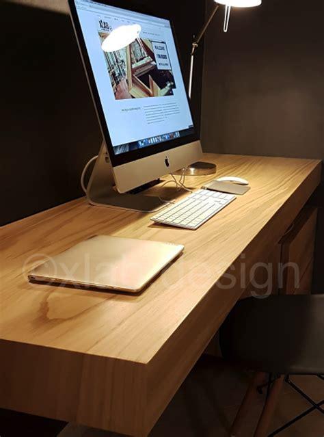 scrivanie di legno tavolo scrivania legno listellare castagno magris xlab
