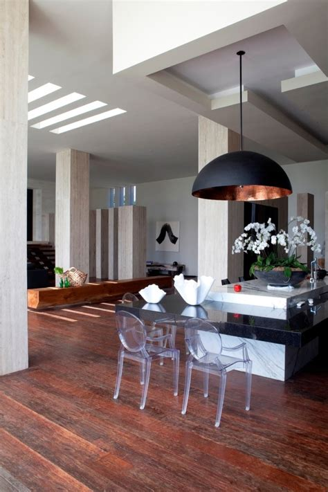 Kitchen Island With Table Combination by 20 Examples Of Copper Pendant Lighting For Your Home