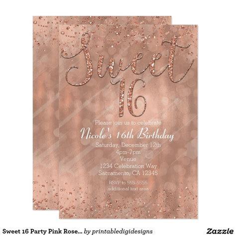 best sweet sixteen ideas best 20 sweet 16 invitations ideas on sweet