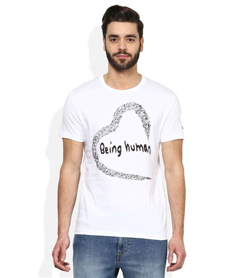 Price Of White Shirt by Being Human White Printed T Shirt Buy Being Human White Printed T Shirt At Low Price