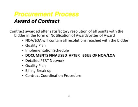 Contract Award Notification Letter Sle Contract Closing Ppt