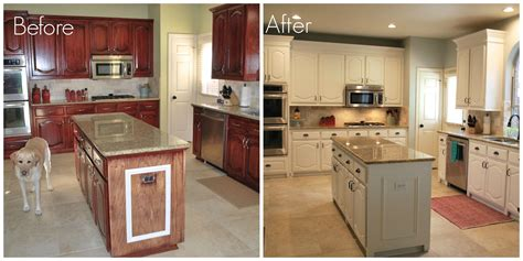 Kitchen Cupboard Paint Before And After - before after kitchen remodel painting