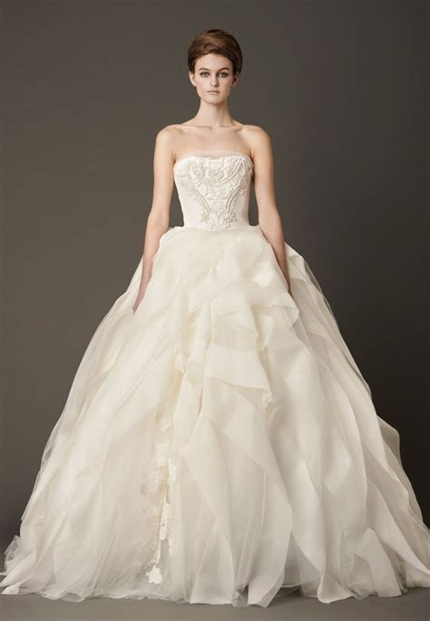 Wedding Dresses Wang by Dressybridal Vera Wang Fall 2013 Ruffled Wedding Gowns