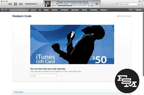 How Do You Load An Itunes Gift Card - how to redeem gift cards using your camera in itunes 11