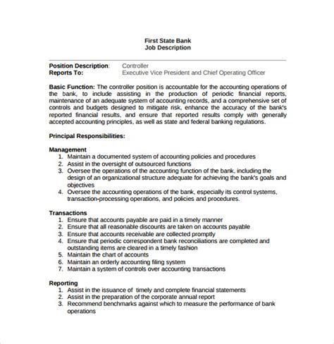 position description template description format template www pixshark