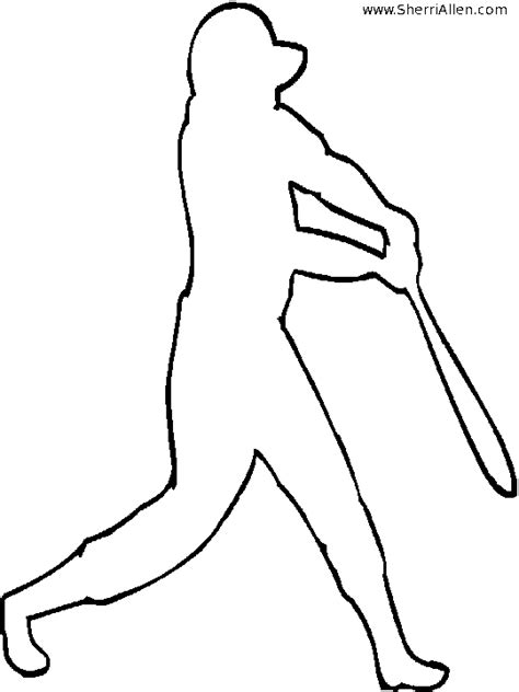 Sports Player Outline by Free Sports Coloring Pages From Sherriallen