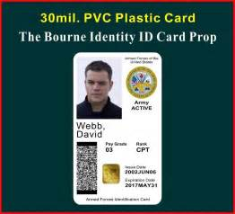 us army id card template the bourne identity id card badge prop david webb