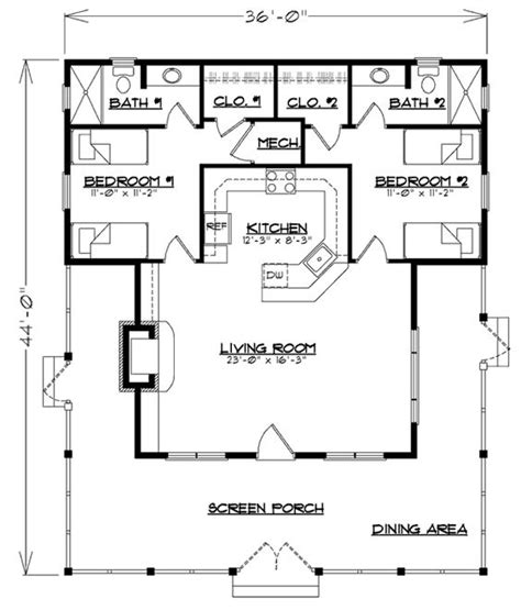 2 bedroom cabin floor plans possible cabin floor plan don t like that you to go through a bedroom to access a