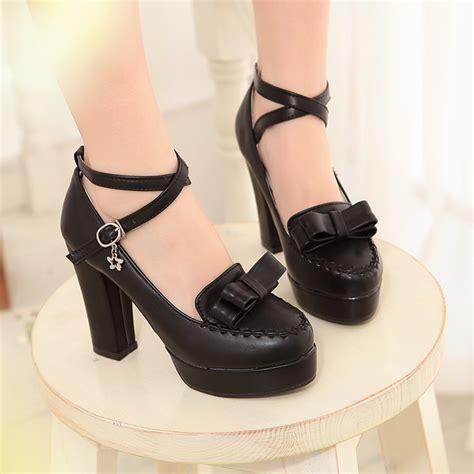 boat shoes japan japanese sweet bow cute kawaii heeled shoes 183 fashion