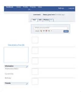 Fakebook Template by Blank Template 11 Free Word Ppt Psd