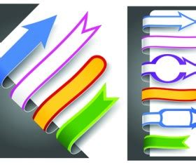 colour bookmarks with arrow vector graphics 03 free colour bookmarks with arrow vector graphics 03 free
