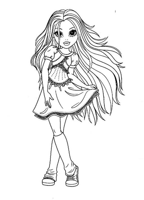 beautiful girl avery from moxie girlz coloring pages