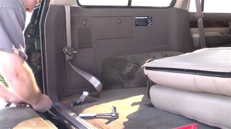 how to remove back to back boat seats removing rear seats and seat belts on 97 lx450 land