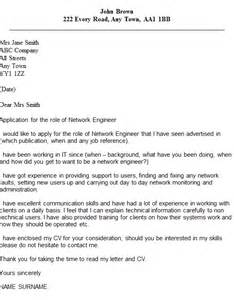 network engineer cover letter exle icover org uk