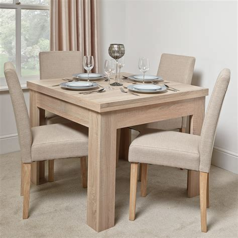 Kitchen Dining Tables And Chairs Uk Calpe Flip Extending Dining Table