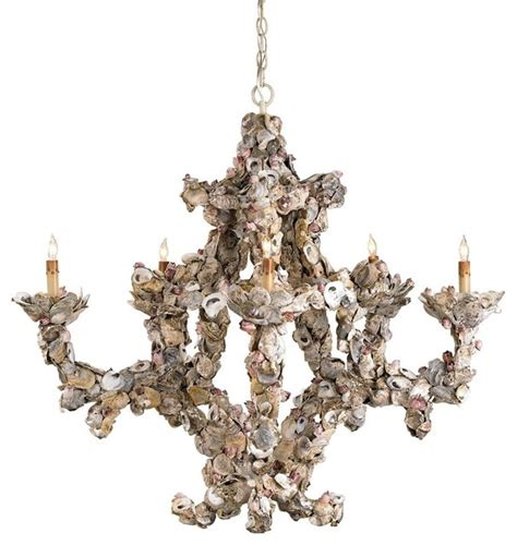 shell chandelier lighting currey co oyster shell chandelier traditional