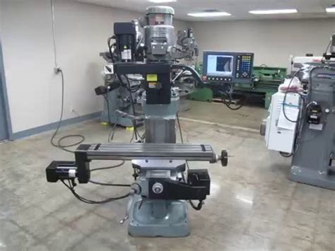 bridgeport acu rite mp2 3 axis cnc knee mill for sale at