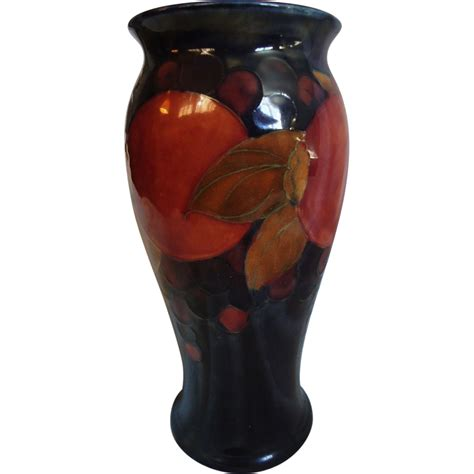 8 quot moorcroft pomegranate vase from sweetcandy on ruby