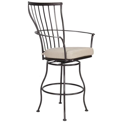 outdoor swivel bar stools with arms monterra swivel bar stool with arms hauser s patio