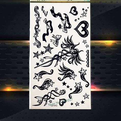 black typical tattoo sticker buy tattoo sticker body kids body arm harry potter magic wand temporary tattoo