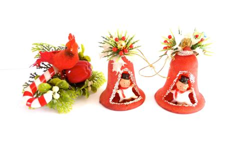 vintage christmas decorations 1960 s 1970 s by