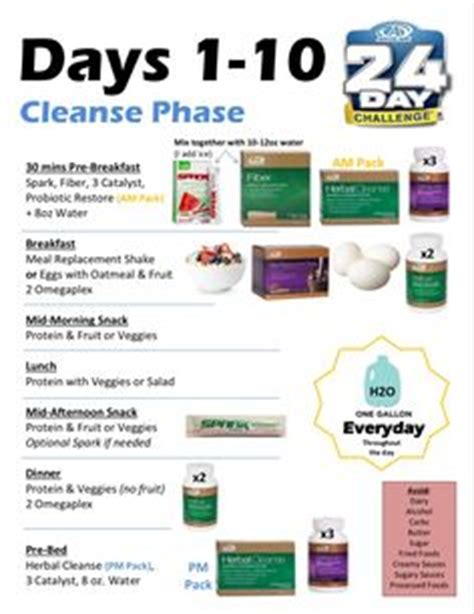 8 Week Run Detox Phase by Advocare 24 Day Challenge Meal Plan Advocare And Clean