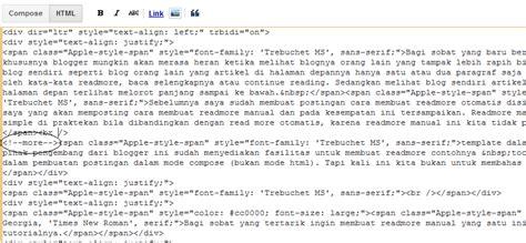 membuat skck manual membuat readmore manual di blogspot