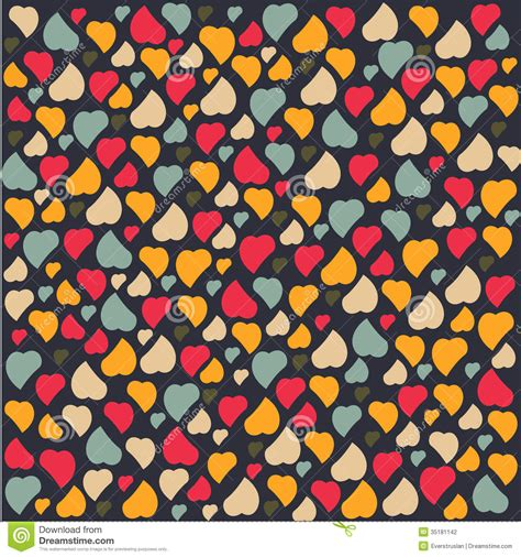 love pattern background vector love heart background pattern valentines day greet stock