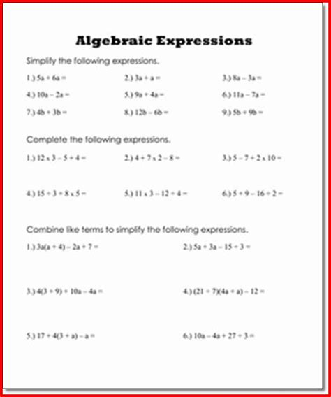 Evaluating Expressions Worksheet by Evaluating Expressions Worksheet Worksheets Releaseboard