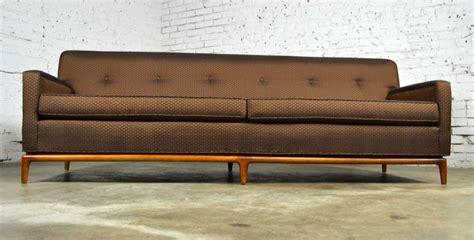 tight back sofa styles mid century modern tufted tight back tuxedo sofa on walnut
