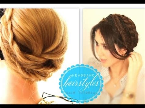 cute everyday hairstyles tutorials cute headband hairstyles 1 everyday crown braid prom