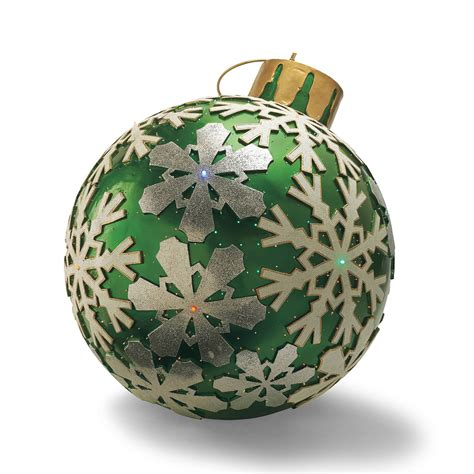 Lighted Outdoor Ornaments Fiber Optic Led Outdoor Ornaments The Green