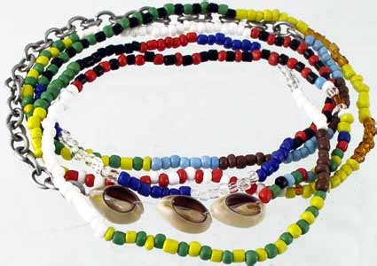 santeria color meanings orisha necklace 7 powers bandera